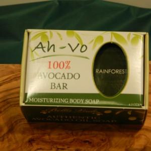 Avocado Soap Bar ( Rainforest)   Olive Branch and Grape Vine